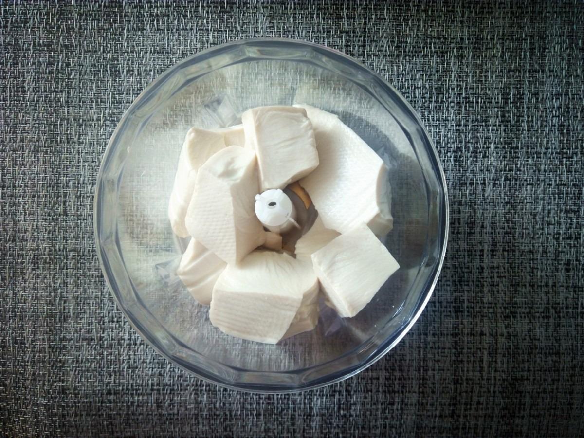 豆腐でチョコアイス_豆腐_ミキサー